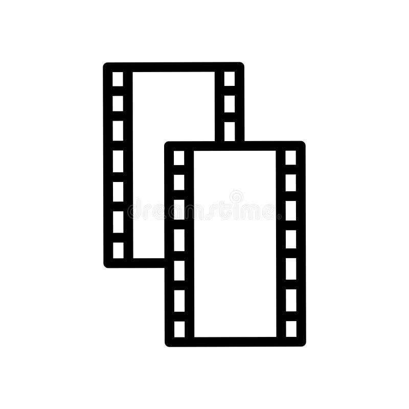 Vecteur d'icône de petit pain de film d'isolement sur le signe blanc de fond, de petit pain de film, la ligne et les éléments d'e illustration stock