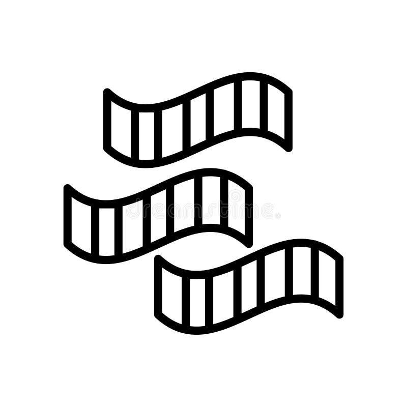 Vecteur d'icône de petit pain de film d'isolement sur le signe blanc de fond, de petit pain de film, la ligne et les éléments d'e illustration de vecteur
