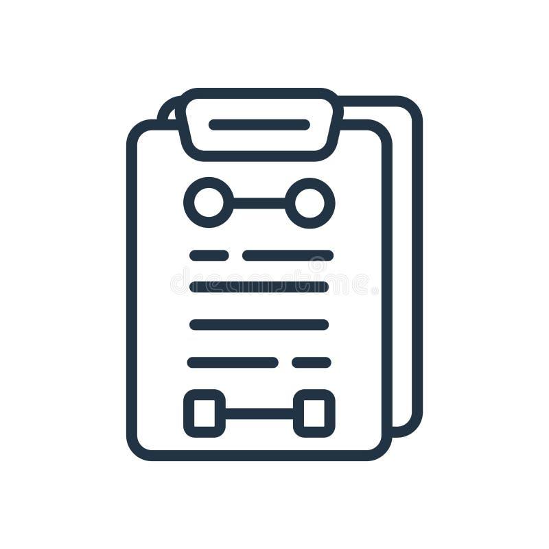 Vecteur d'icône de planification d'isolement sur le fond blanc, signe de planification illustration de vecteur