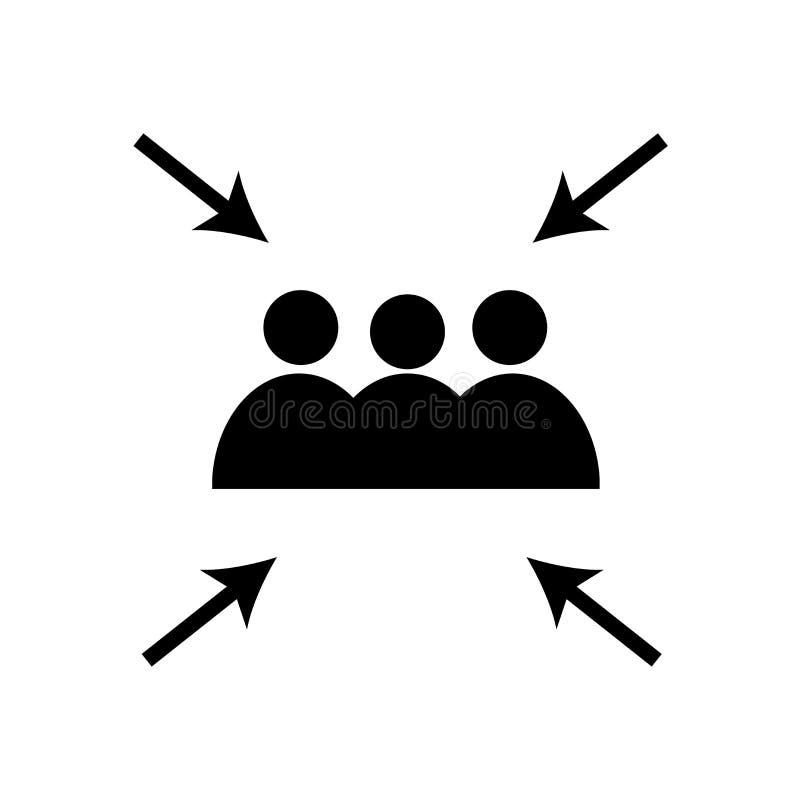 Vecteur d'icône de point de rencontre d'isolement sur le fond blanc, signe de point de rencontre illustration de vecteur