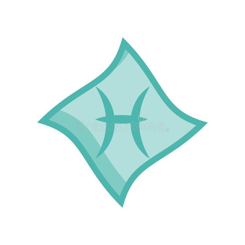 Vecteur d'icône de Poissons d'isolement sur le fond blanc, signe de Poissons illustration de vecteur