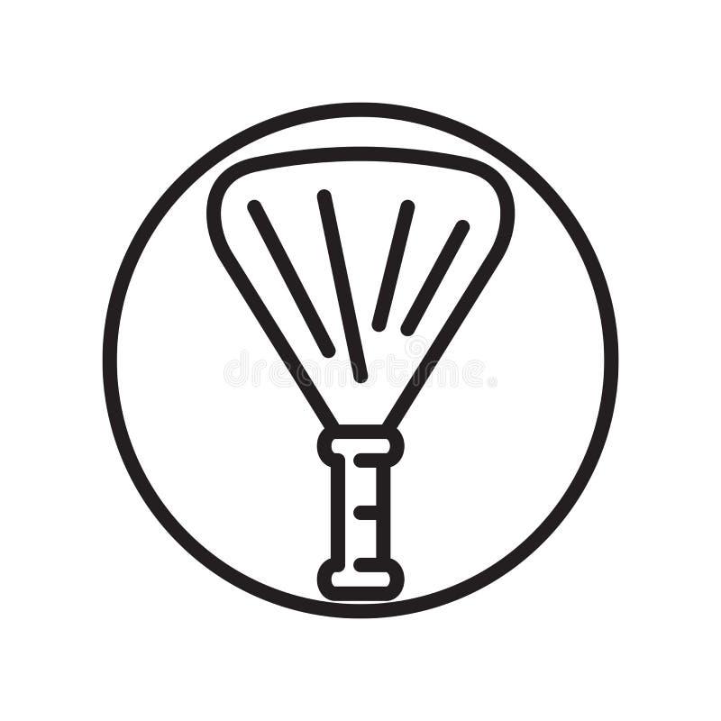 Vecteur d'icône de pom de Pom d'isolement sur le fond blanc, signe de pom de Pom, symboles linéaires de sport illustration de vecteur