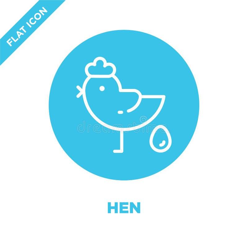 vecteur d'icône de poule de collection de saisons Ligne mince illustration de vecteur d'icône d'ensemble de poule Symbole linéair illustration de vecteur