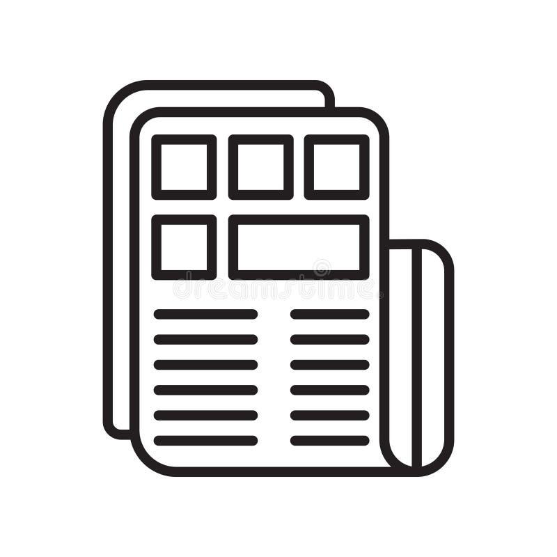 Vecteur d'icône de presse d'isolement sur le fond blanc, signe de presse, lin illustration stock