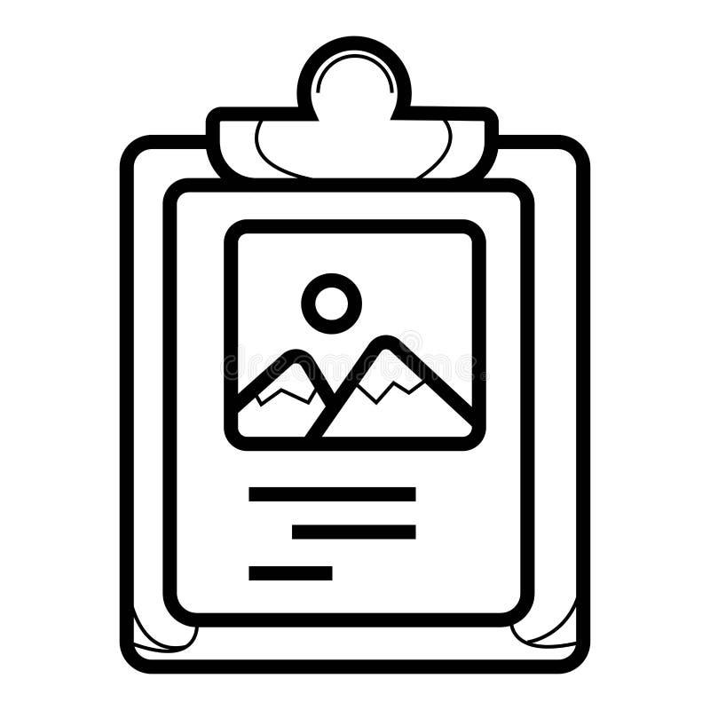Vecteur d'icône de presse-papiers illustration stock