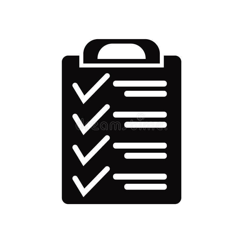 Vecteur d'icône de presse-papiers d'isolement sur le fond blanc, signe de presse-papiers, symboles noirs illustration de vecteur