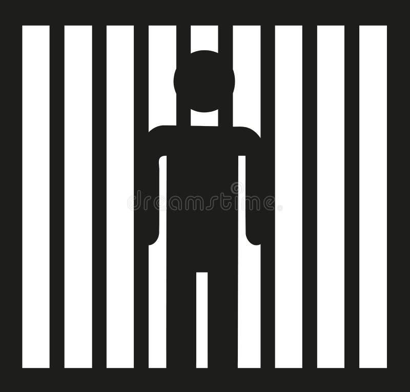 Vecteur d'icône de prisonnier illustration de vecteur