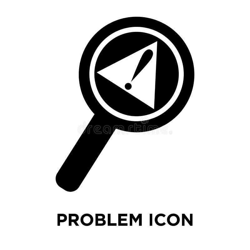 Vecteur d'icône de problème d'isolement sur le fond blanc, concept o de logo illustration stock