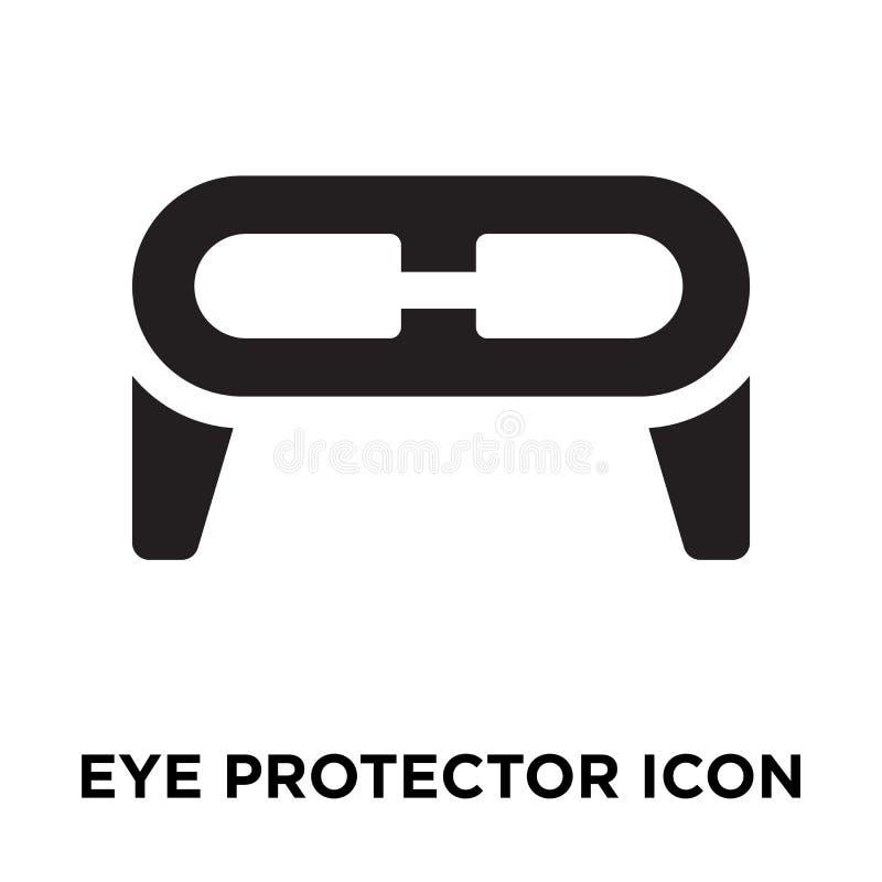 Vecteur d'icône de protecteur d'oeil d'isolement sur le fond blanc, escroquerie de logo illustration de vecteur