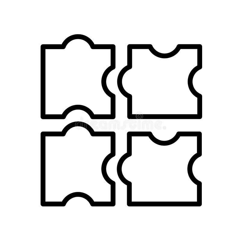 Vecteur d'icône de puzzle d'isolement sur le fond blanc, signe de puzzle, l illustration libre de droits