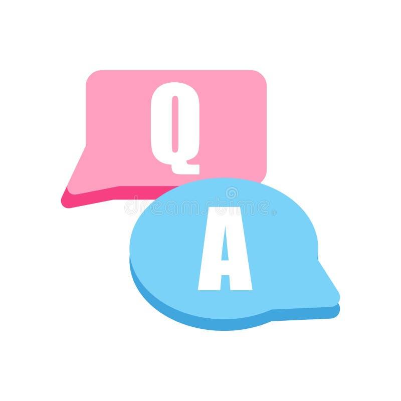 Vecteur d'icône de question d'isolement sur le fond blanc, signe de question, symboles de question illustration libre de droits