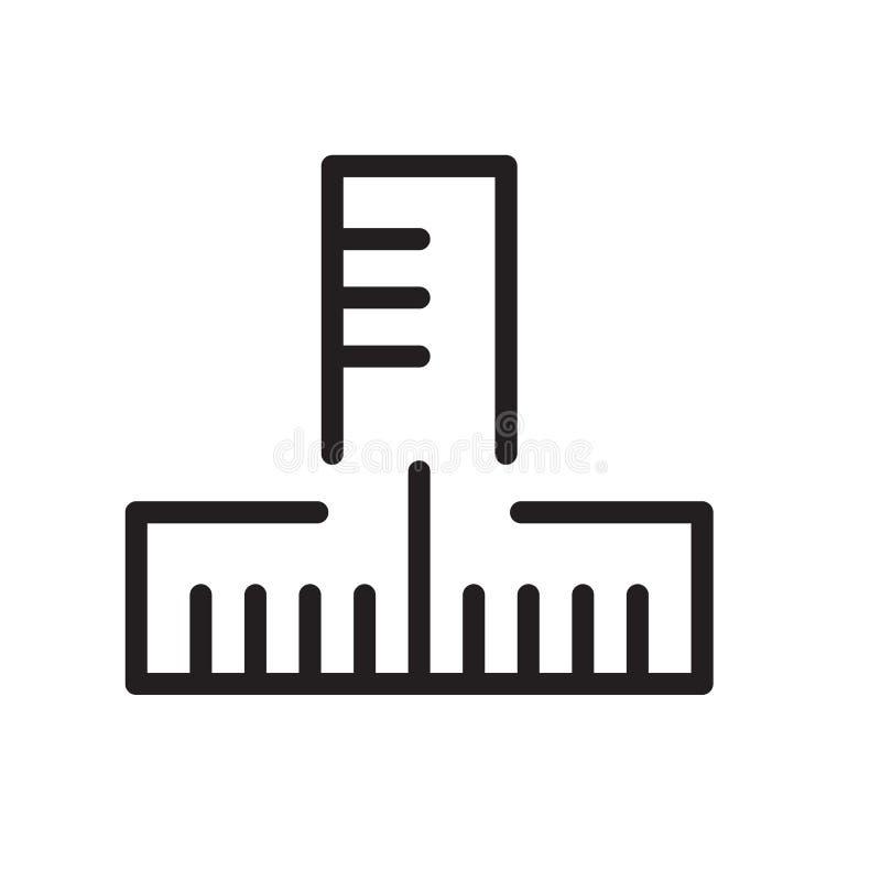 Vecteur d'icône de règle d'isolement sur le fond blanc, le signe de règle, la ligne symbole ou la conception linéaire d'élément d illustration de vecteur