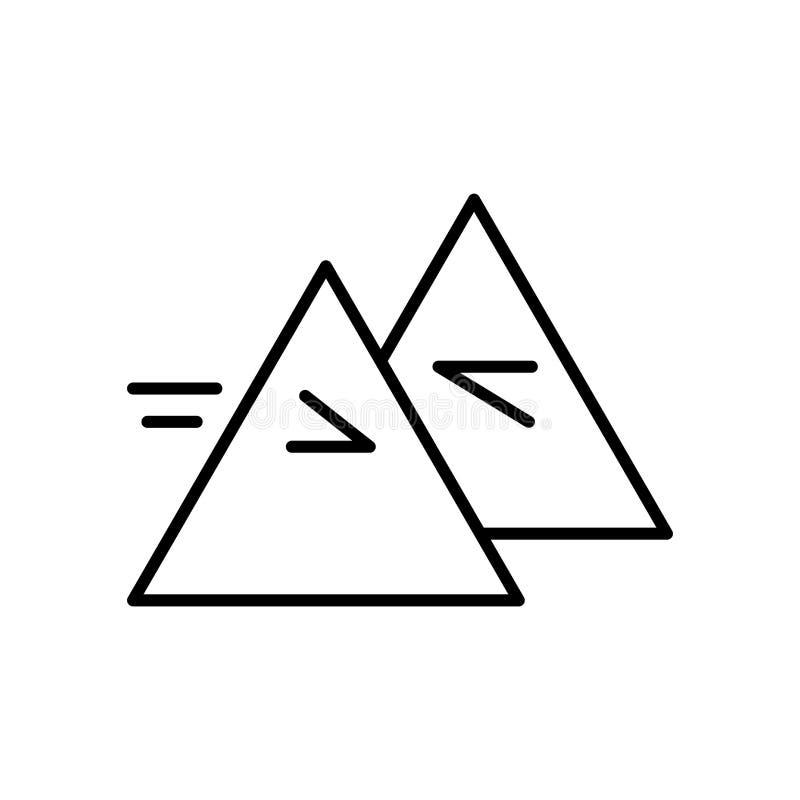 Vecteur d'icône de réfraction d'isolement sur le fond, le signe de réfraction, le signe et les symboles blancs dans le style liné illustration libre de droits