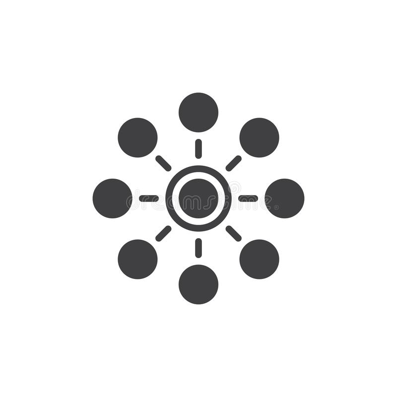 Vecteur d'icône de réseau illustration libre de droits