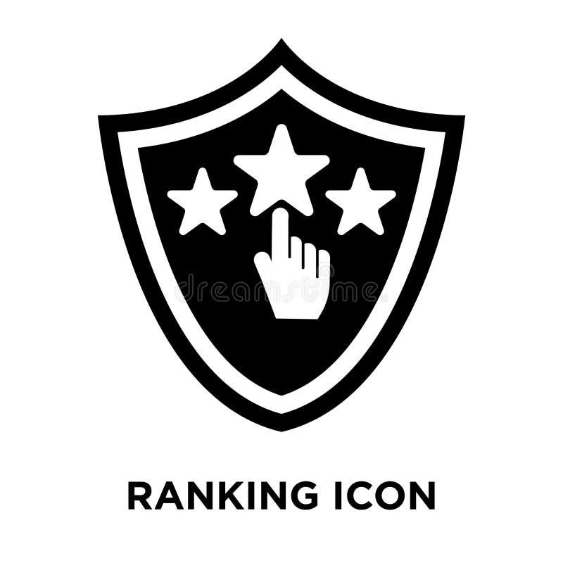 Vecteur d'icône de rang d'isolement sur le fond blanc, concept o de logo illustration libre de droits