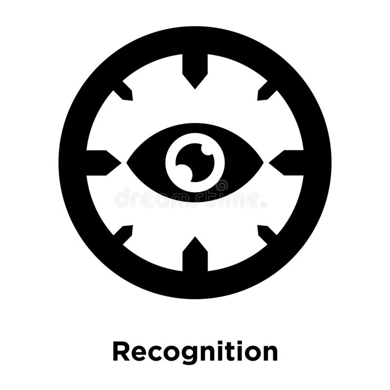 Vecteur d'icône de reconnaissance d'isolement sur le fond blanc, conce de logo illustration libre de droits