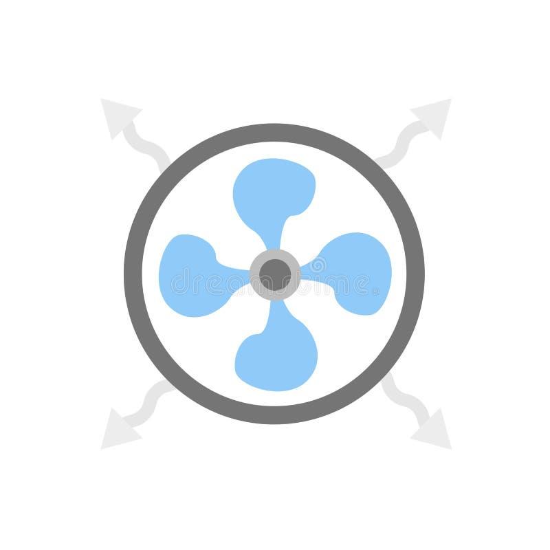Vecteur d'icône de refroidisseur d'isolement sur le fond blanc, un signe plus frais, symboles de temps illustration stock