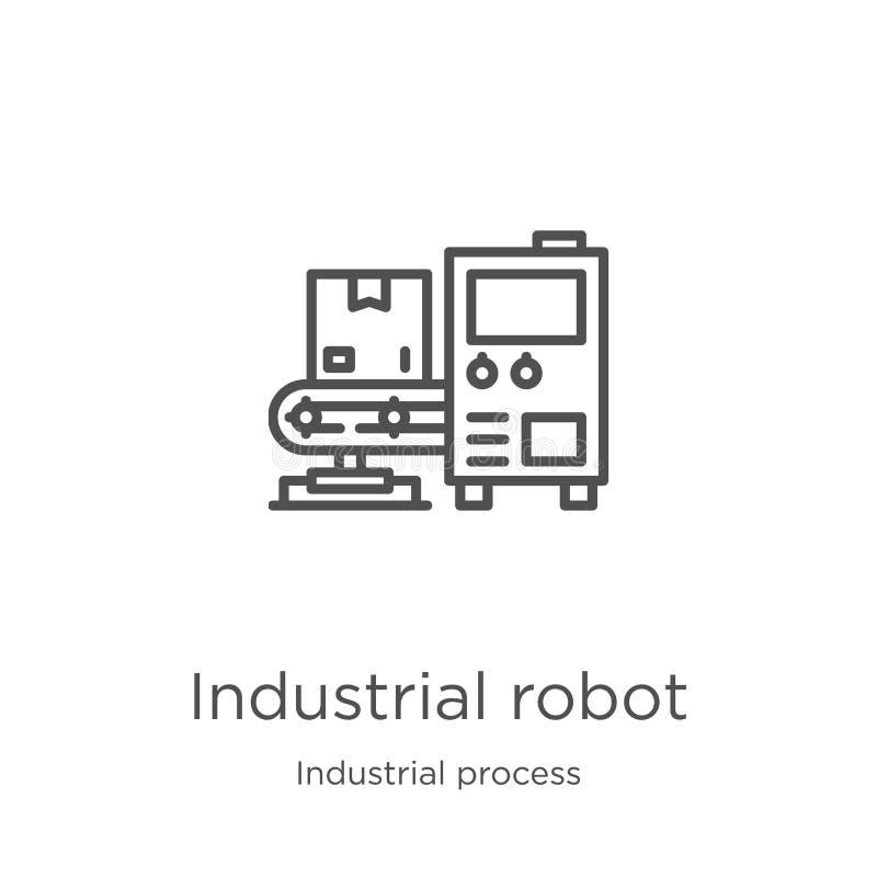 vecteur d'icône de robot industriel de collection de processus industriel Ligne mince illustration de vecteur d'icône d'ensemble  illustration stock