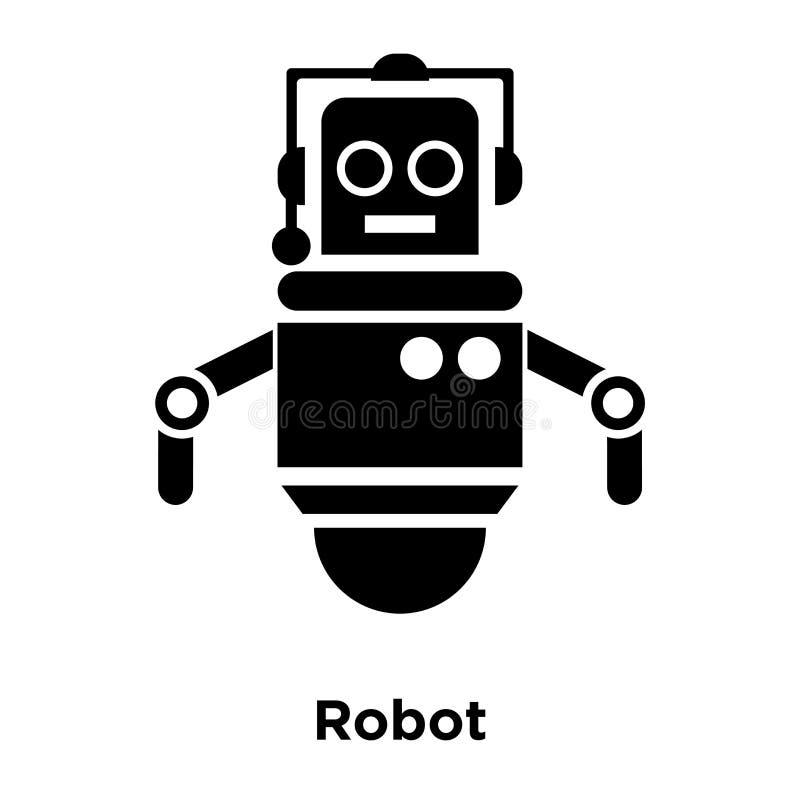Vecteur d'icône de robot d'isolement sur le fond blanc, concept de logo de illustration stock