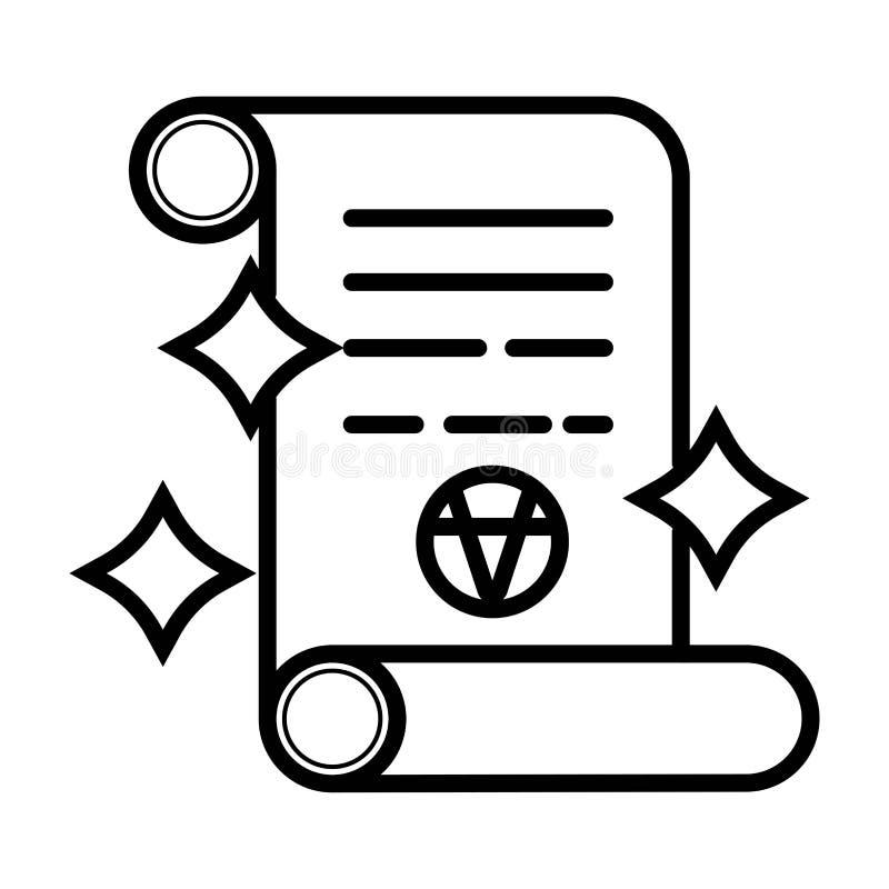 Vecteur d'icône de rouleau illustration de vecteur