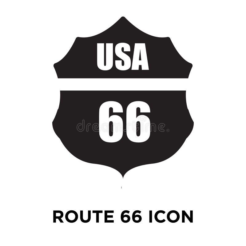 Vecteur d'icône de Route 66 d'isolement sur le fond blanc, concept de logo illustration stock
