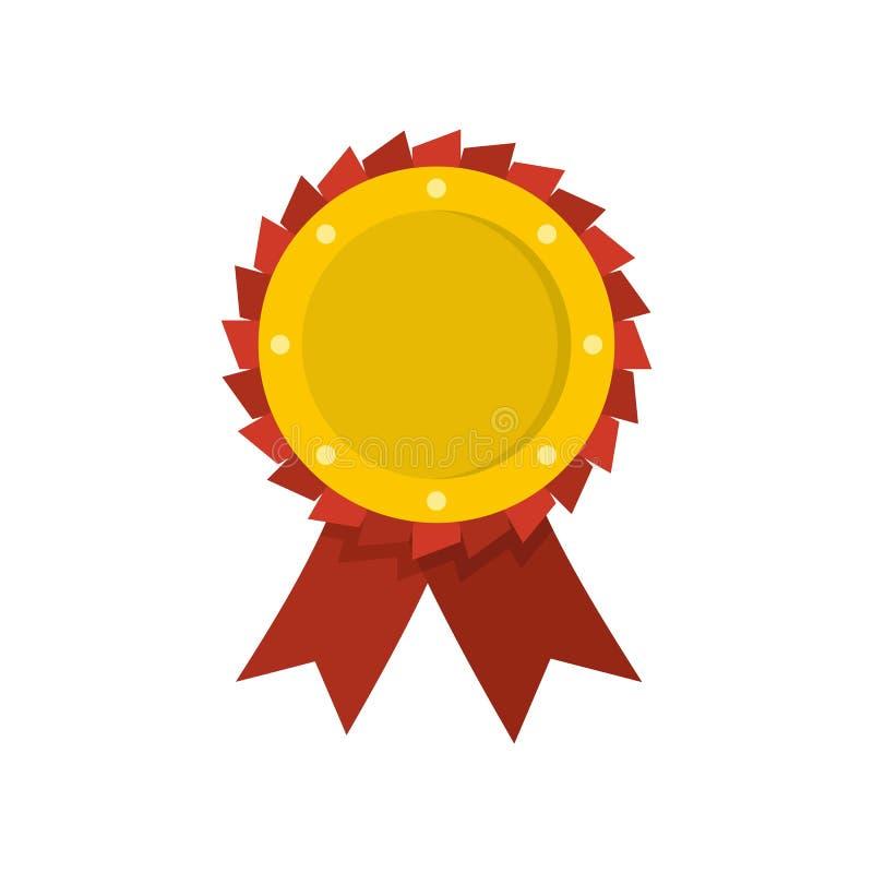 Vecteur d'icône de ruban de récompense plat illustration de vecteur