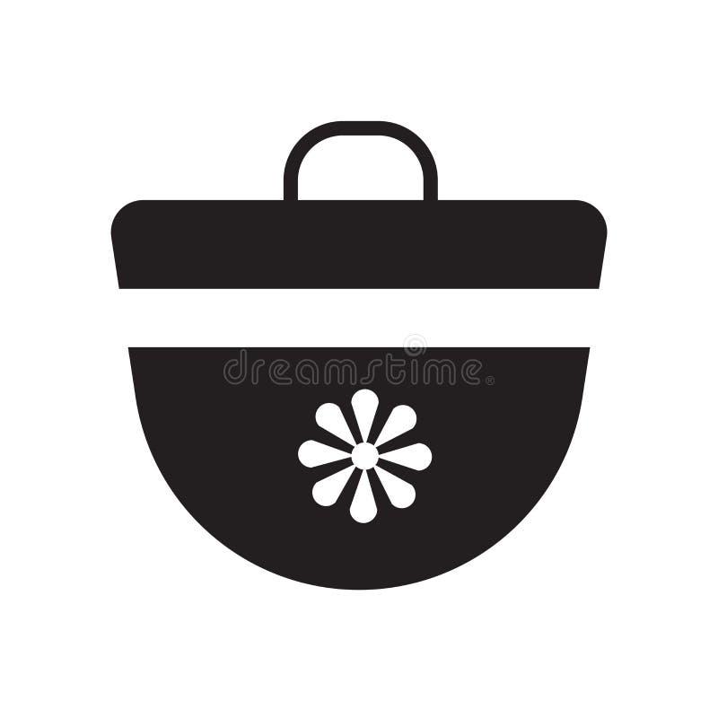 Vecteur d'icône de sac à main d'isolement sur le fond blanc, signe de sac à main, symboles de vacances illustration stock