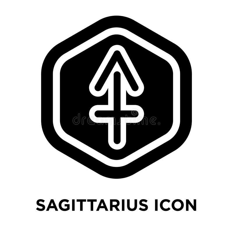 Vecteur d'icône de Sagittaire d'isolement sur le fond blanc, conce de logo illustration de vecteur