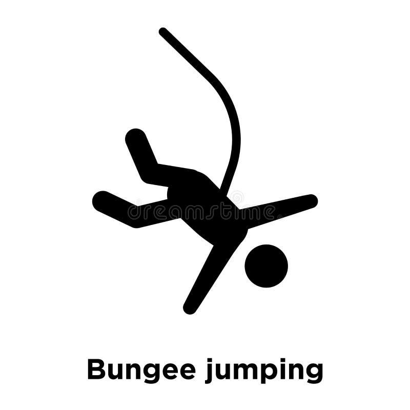 Vecteur d'icône de saut à l'élastique d'isolement sur le fond blanc, logo Co illustration libre de droits