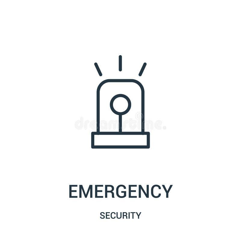 vecteur d'icône de secours de collection de sécurité Ligne mince illustration de vecteur d'icône d'ensemble de secours Symbole li illustration libre de droits