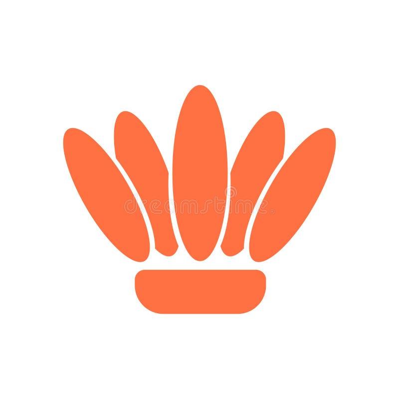 Vecteur d'icône de Shell d'isolement sur le fond blanc, signe de Shell, symboles historiques d'âge de pierre illustration stock