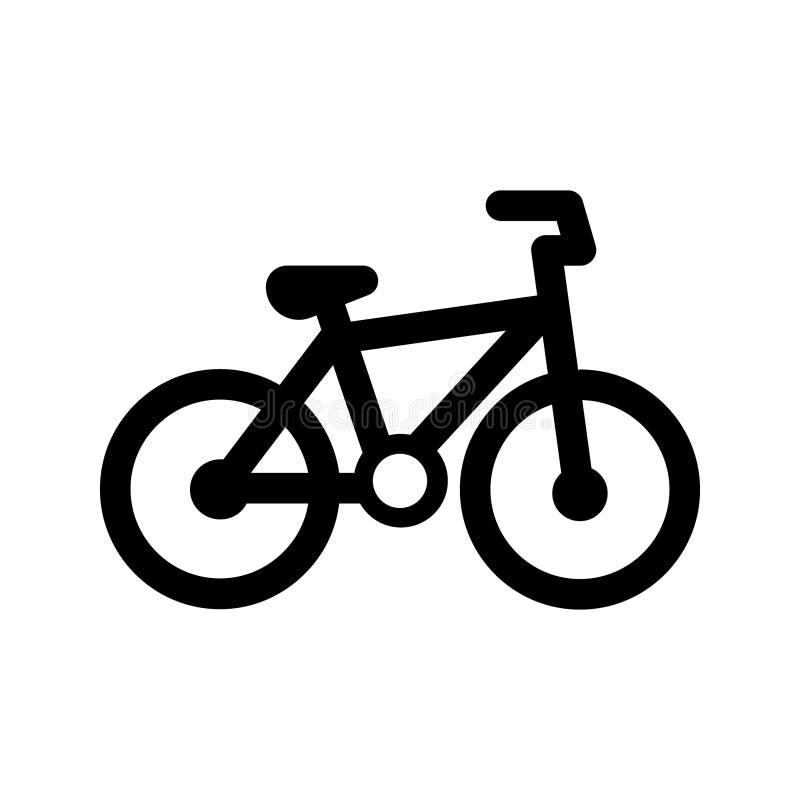 Vecteur d'icône de signe de bicyclette Symbole d'illustration de vélo sur le fond d'isolement blanc Logo de recyclage illustration libre de droits