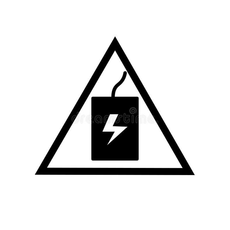 Vecteur d'icône de signe de choc d'isolement sur le fond blanc, signe de signe de choc illustration libre de droits