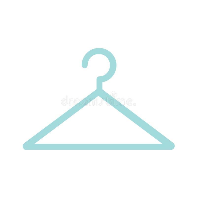 Vecteur d'icône de signe de cintre de manteau illustration libre de droits