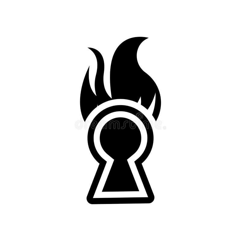 Vecteur d'icône de signe de risque d'incendie d'isolement sur le fond blanc, le feu illustration stock