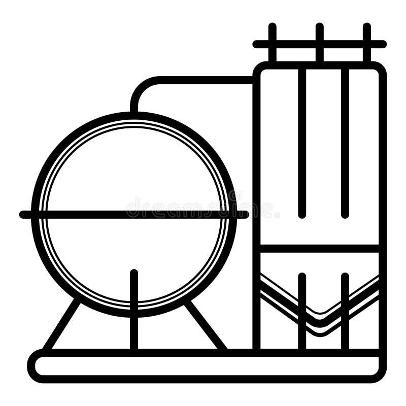 Vecteur d'icône de silos illustration stock
