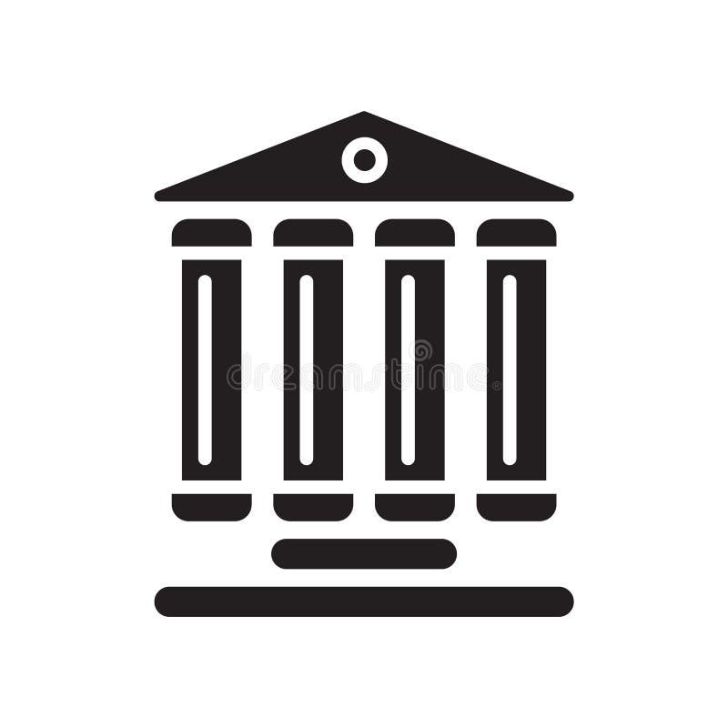 Vecteur d'icône de site de monument d'isolement sur le fond blanc, monument illustration stock
