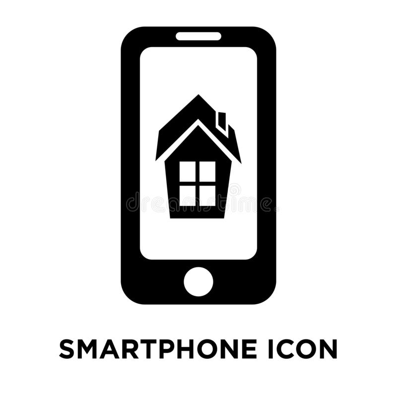 Vecteur d'icône de Smartphone d'isolement sur le fond blanc, concep de logo illustration stock