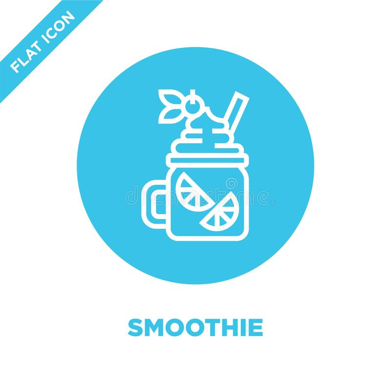 vecteur d'icône de smoothie de collection de boisson Ligne mince illustration de vecteur d'icône d'ensemble de smoothie Symbole l illustration de vecteur
