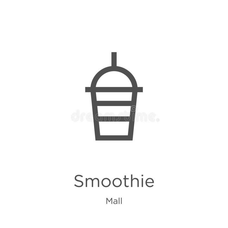 vecteur d'icône de smoothie de collection de mail Ligne mince illustration de vecteur d'ic?ne d'ensemble de smoothie Contour, lig illustration libre de droits