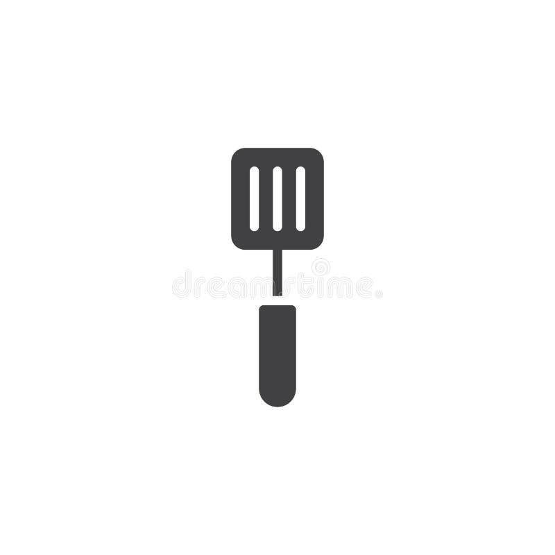 Vecteur d'icône de spatule illustration stock