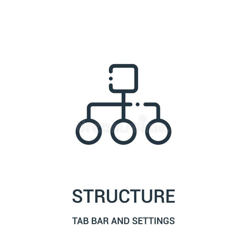 vecteur d'icône de structure de barre d'étiquette et de collection d'arrangements Ligne mince illustration de vecteur d'icône d'e illustration stock