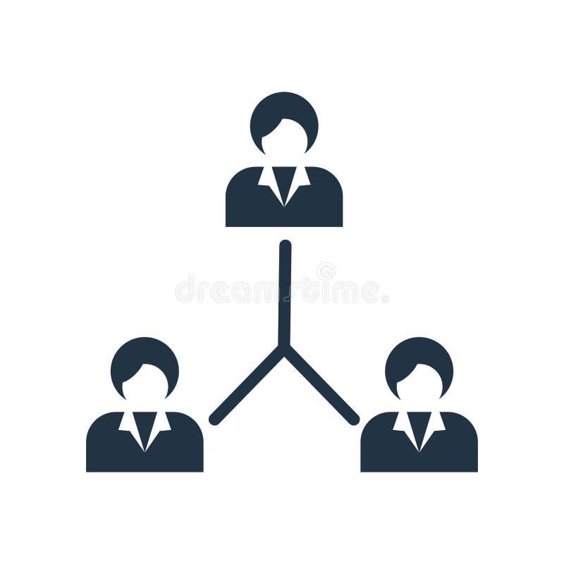Vecteur d'icône de structure hiérarchisée d'isolement sur le fond blanc, signe de structure hiérarchisée illustration de vecteur