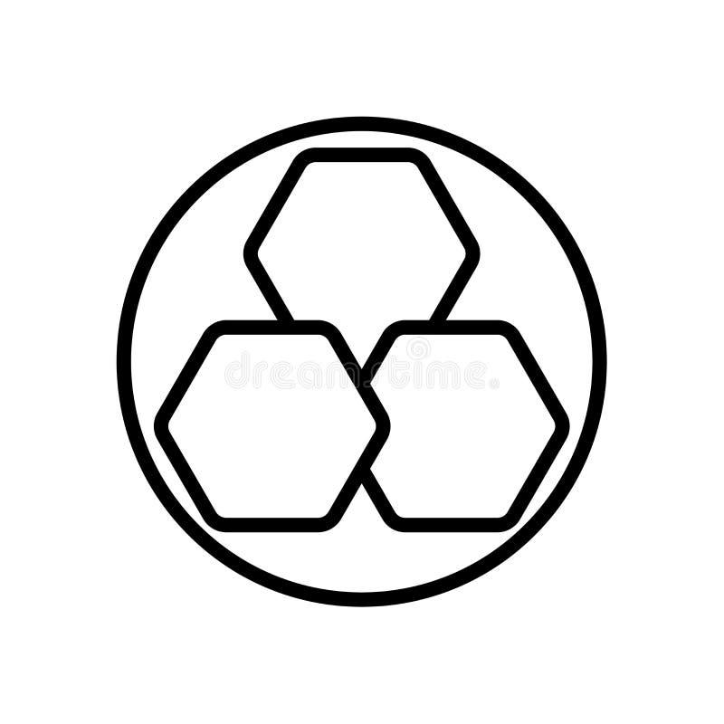 Vecteur d'icône de structure d'isolement sur le fond blanc, signe de structure illustration libre de droits