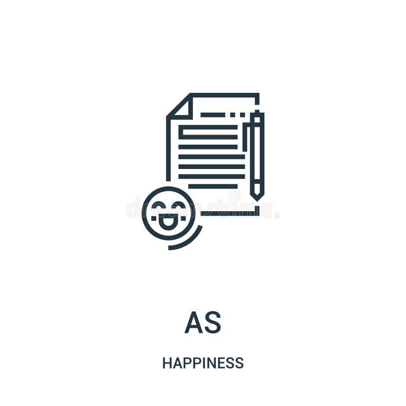 vecteur d'icône de tâche de collection de bonheur Ligne mince illustration de vecteur d'icône d'ensemble de tâche Symbole linéair illustration de vecteur