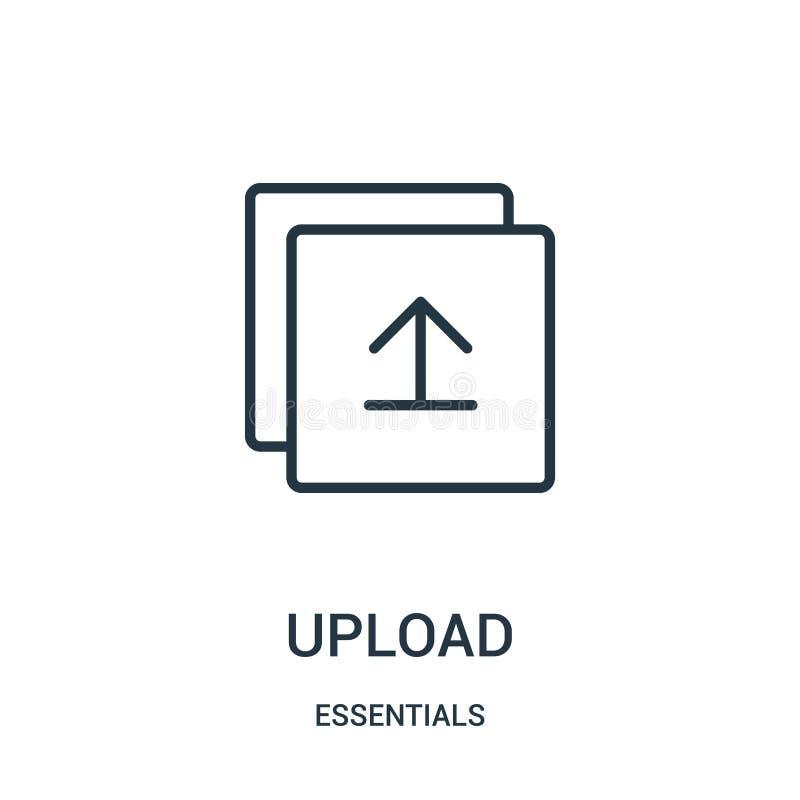 vecteur d'icône de téléchargement de collection de bases Ligne mince illustration de vecteur d'icône d'ensemble de téléchargement illustration de vecteur