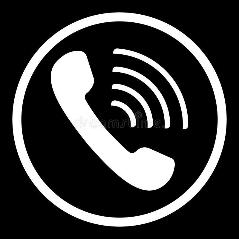 Vecteur d'icône de téléphone Illystration plat à la mode de symbole d'icône de téléphone illustration libre de droits