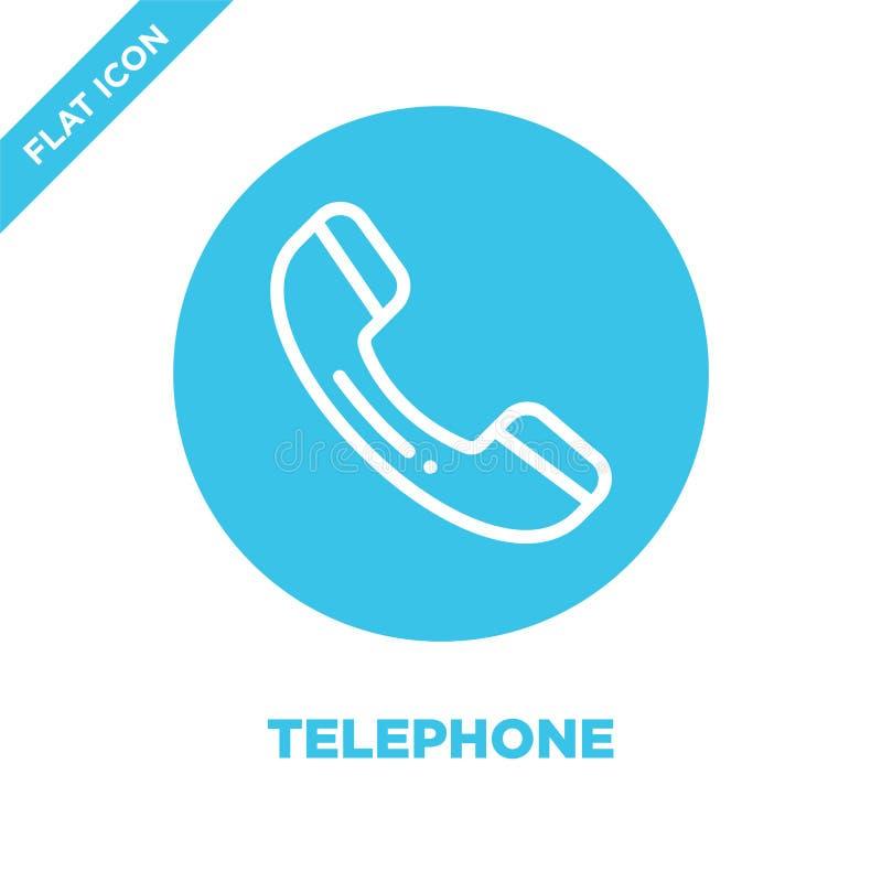 Vecteur d'icône de téléphone Ligne mince illustration de vecteur d'icône d'ensemble de téléphone symbole de téléphone pour l'usag illustration libre de droits