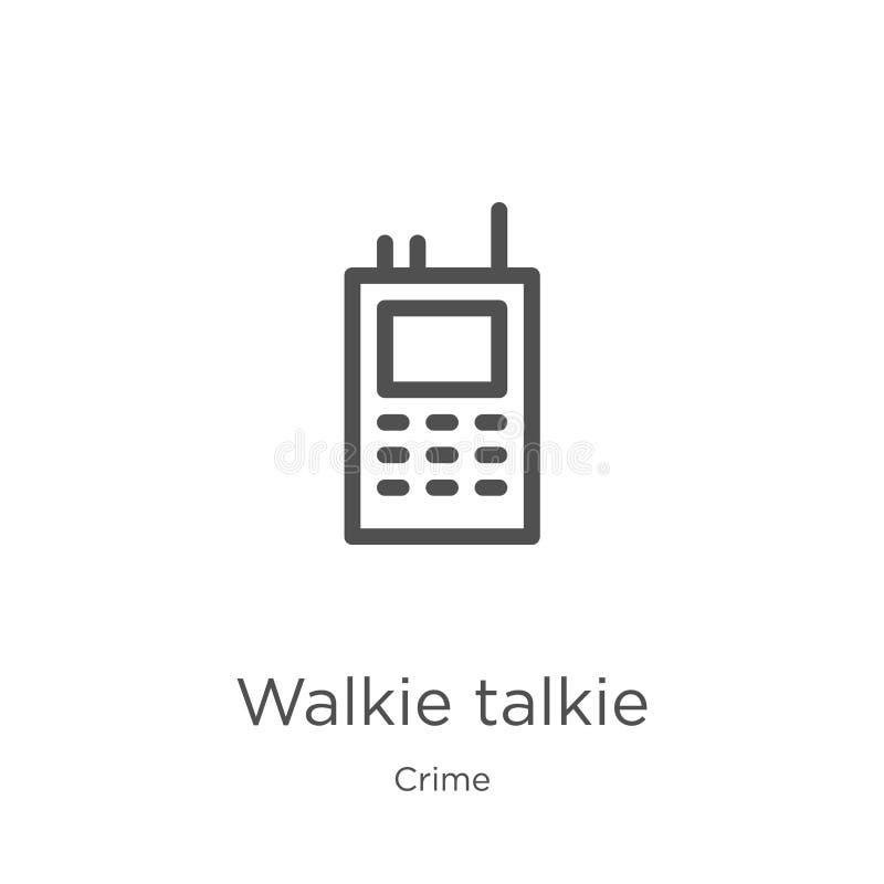 vecteur d'icône de talkie-walkie de collection de crime Ligne mince illustration de vecteur d'ic?ne d'ensemble de talkie-walkie C illustration de vecteur