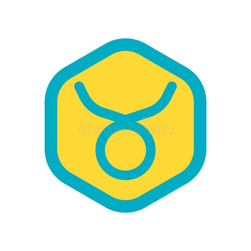 Vecteur d'icône de Taureau d'isolement sur le fond blanc, signe de Taureau illustration de vecteur